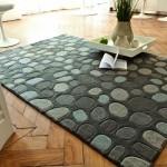 tapis salon forme galet