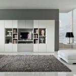 tapis salon gris et blanc