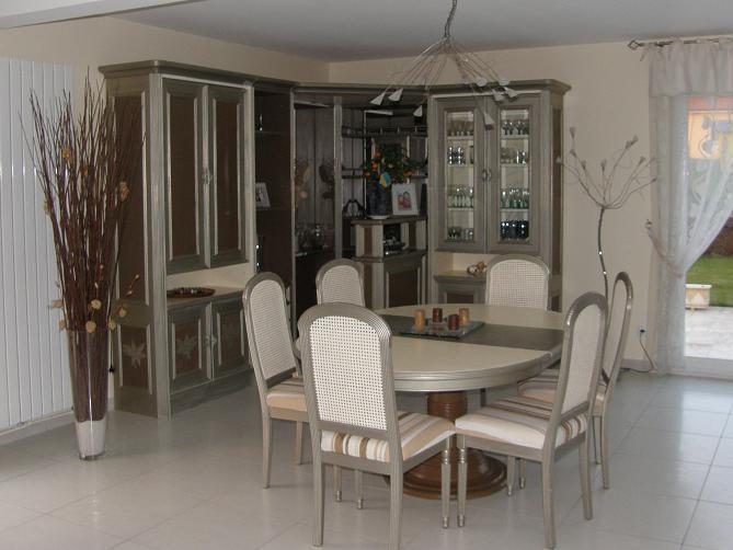 organisation meuble salon couleur taupe