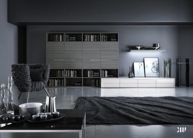 mobilier maison meuble salon gris clair - Salon Gris Clair Et Anthracite
