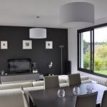 meuble salon salle a manger gris