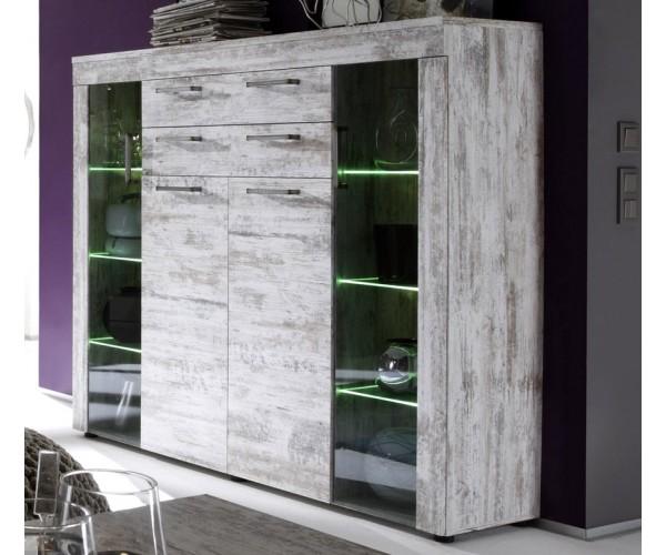 meuble salon vitré