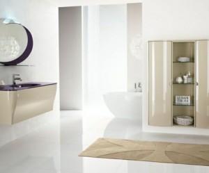 tapis salle de bain mauve
