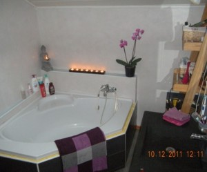 tapis salle de bain teck