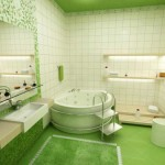 tapis salle de bain vert foncé