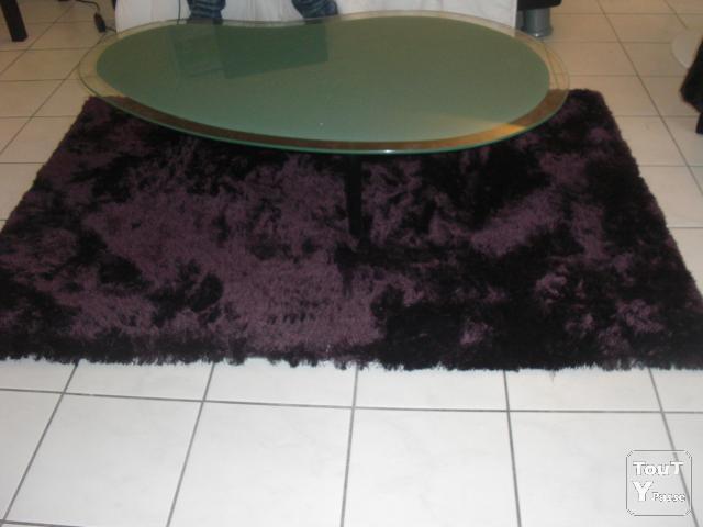 tapis salon aubergine