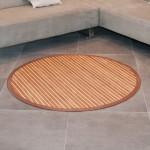tapis salon en bambou