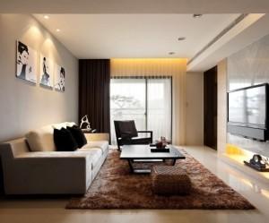 tapis salon marron