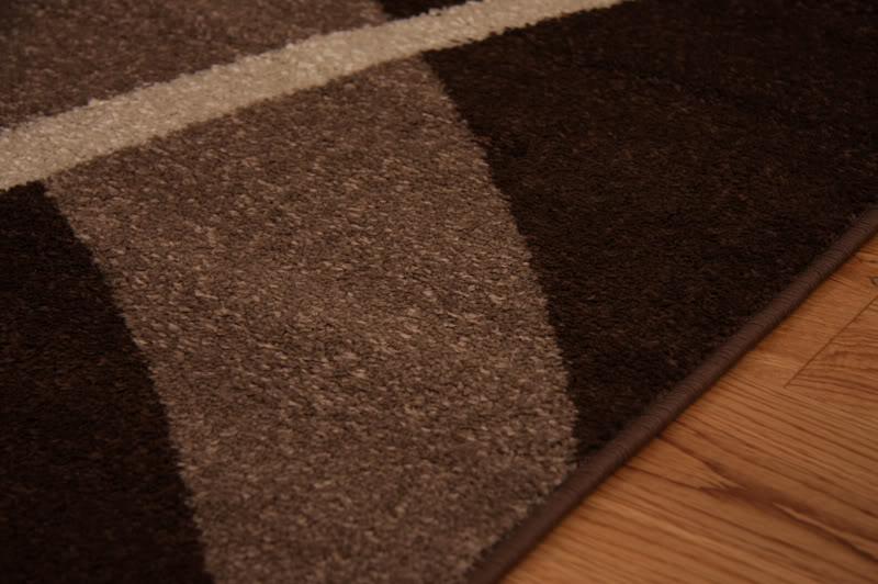 idée tapis salon marron chocolat
