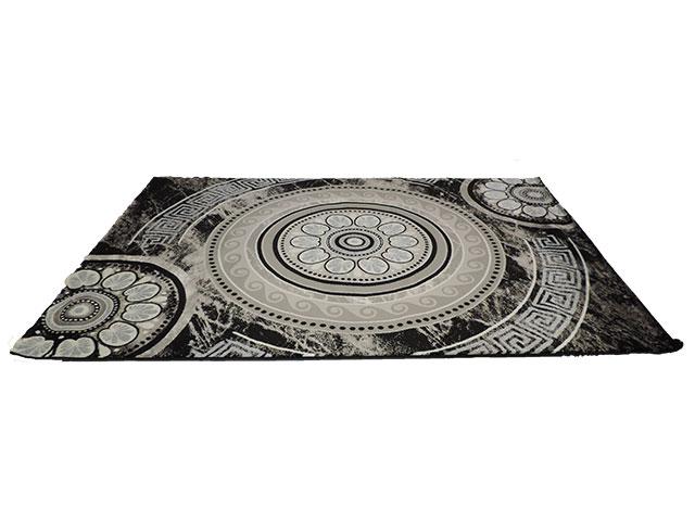 tapis salon noir et gris