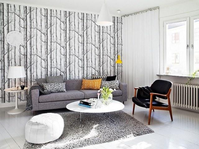 tapis salon orange