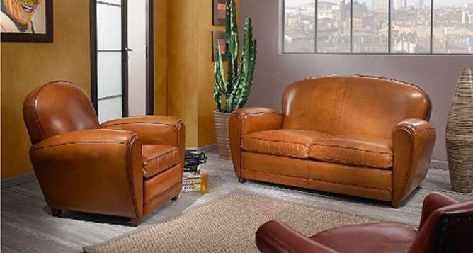 canap club cuir vieilli canape vintage cuir vieilli. Black Bedroom Furniture Sets. Home Design Ideas