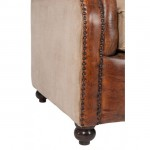 canapé cuir vintage marron