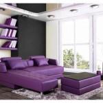 canapé cuir violet