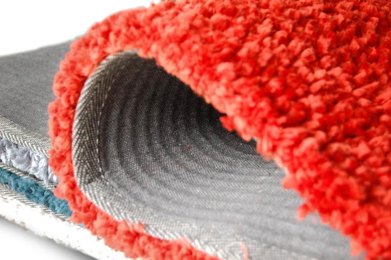 tapis salon corail
